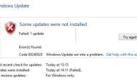 Фото проблемной ошибки 80240020 в системе Windows 10
