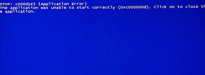 Фото c0000145 причины синего экрана смерти Windiws 7