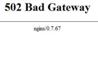Фото ошибка 502 bad gateway на Windows