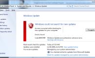 Фото ошибки update 80072f8f Windows 7