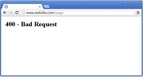 Фото error 400 bad request Windows