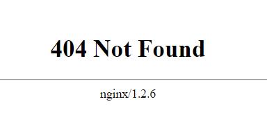 Problems code 404 Not Found error