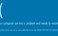 фото ошибки kmode exception not handled на Windows 10