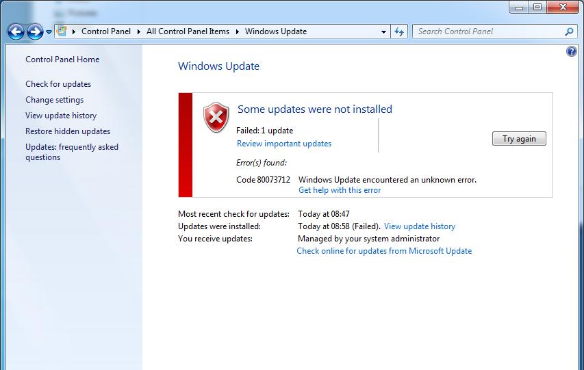 фото 0x80073712 ошибки в Windows 7 и 10
