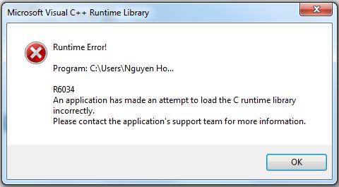 Фото ошибки visual visual c библиотека времени в Системе