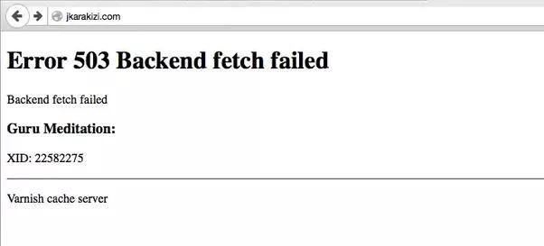 фото ошибки error 503 backend fetch failed