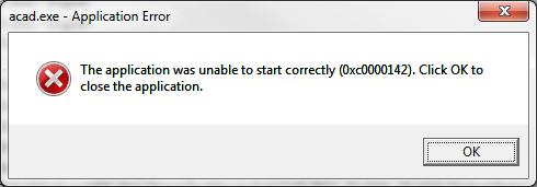 Фото ошибки при запуске Windows приложения
