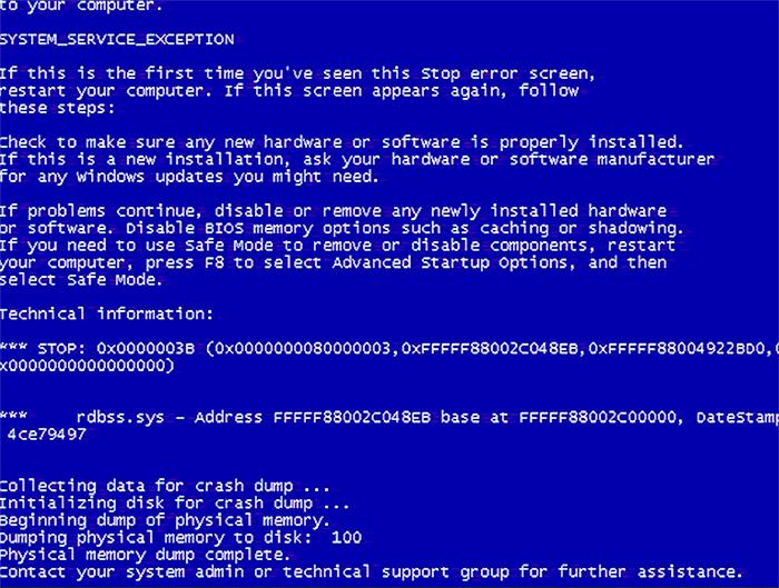 Фото ошибки 0x0000003b синего экрана на Windows 7