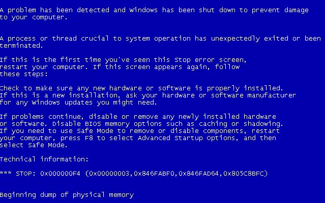 Фото bsod ошибки 0x0000007f Windows