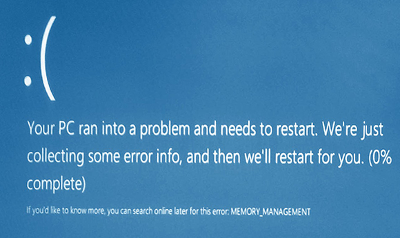 фото ошибки memory management Windows 10 исправить код