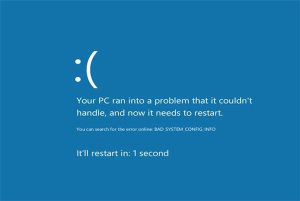фото ошибки error bad system config info