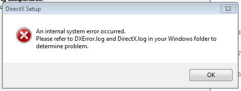 фото ошибки dxerror log и directx log на Windows