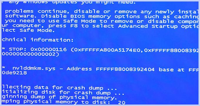 Фото nvlddmkm sys ошибка в системе