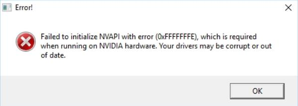 Фото failed to initialize nvapi with error в CS:GO