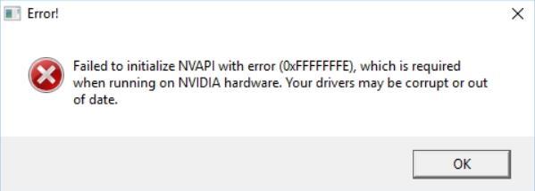 Фото failed to initialize nvapi with error в CS:GO