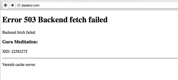 фото ошибки error 503 backend fetch failed