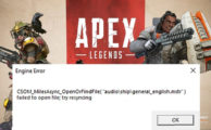 На фото Apex Legends engine error как справить