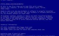 0xC0000221 Ошибка Синего экрана STATUS_IMAGE_CHECKSUM_MISMATCH
